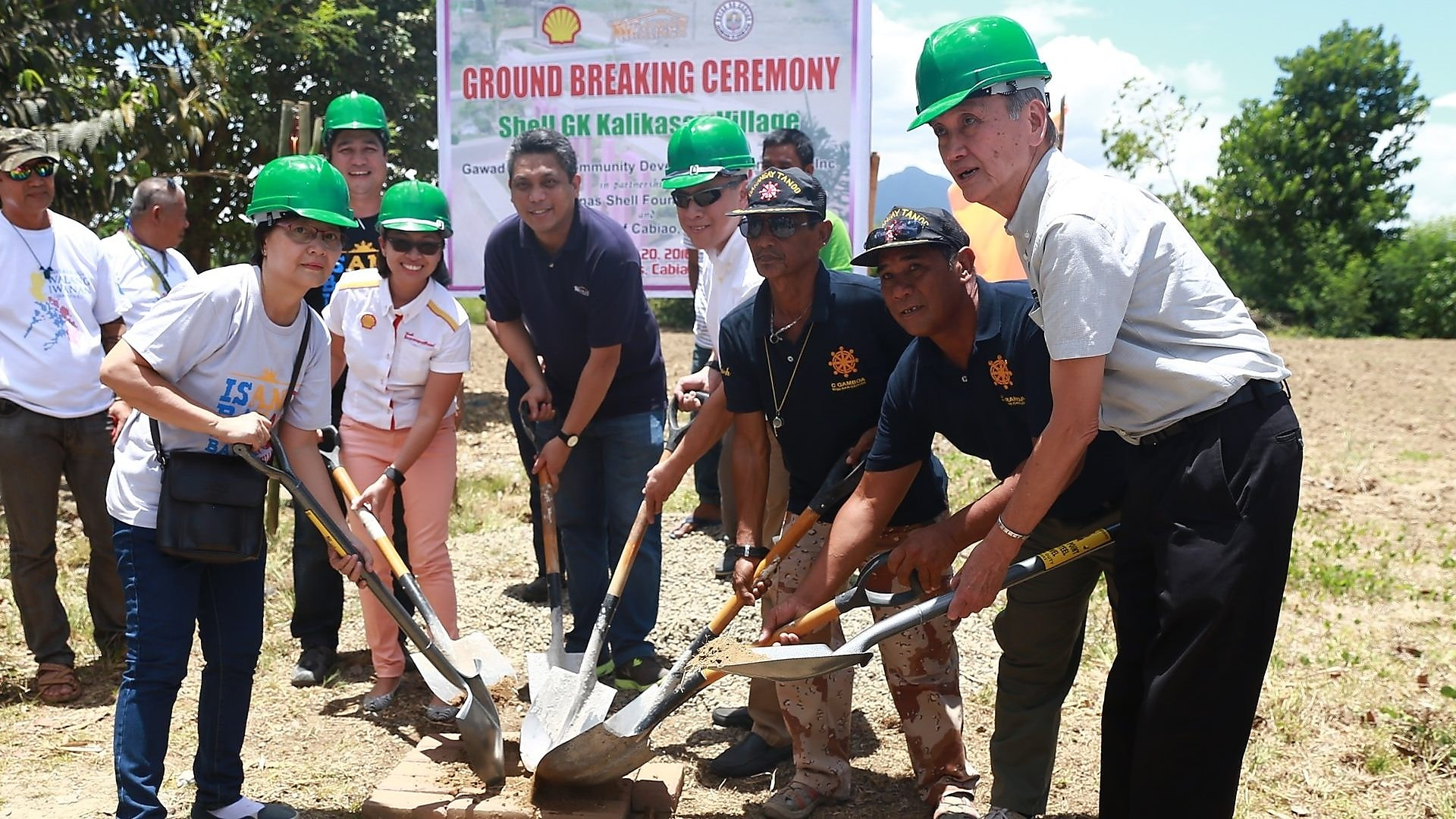 Shell-Gawad Kalinga Kalikasan Village ground breaking ceremony
