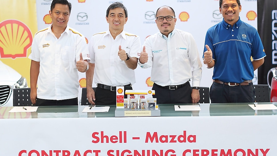 Shell-Mazda contract