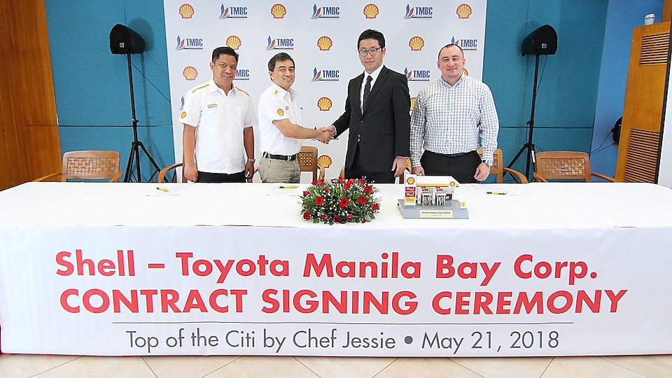 contract signed in between Shell & Toyota