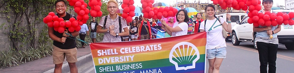 People celebrating Shell diversity