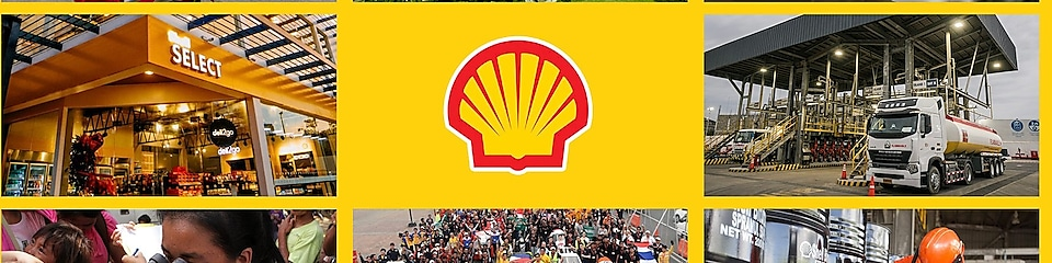 shell logo in middle
